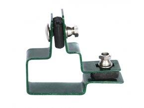 Držák plotového dílce na sloupek 60x40, rohový, zelený