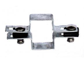 Držák plotového dílce na sloupek 60x40, průběžný, zinkový