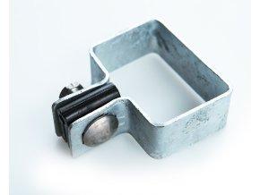 Držák plotového dílce na sloupek 60x40, koncový, zinkový