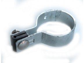 Držák plotového dílce na sloupek 60 mm, koncový, zinkový
