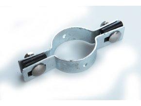 Držák plotového dílce na sloupek 48 mm, průběžný, zinkový