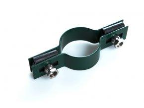 Držák plotového dílce na sloupek 48 mm, průběžný, zelený
