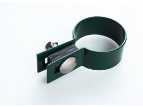 Držák plotového dílce na sloupek 60 mm, koncový, zelený