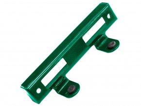 Doraz branky, brány kovový zelený 17,5 x 3,1 cm