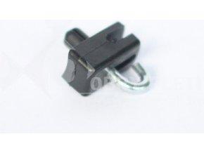 Příchytka z PVC na nap. drát - černá na Zn sloupek natloukací