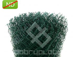 Poplastované pletivo  150 cm výška PVC; 50x50mm; 2,5mm bez ND
