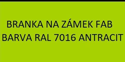 Branky barvy RAL 7016 antracit