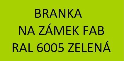 Branky se zámkem FAB, RAL 6005, zelená