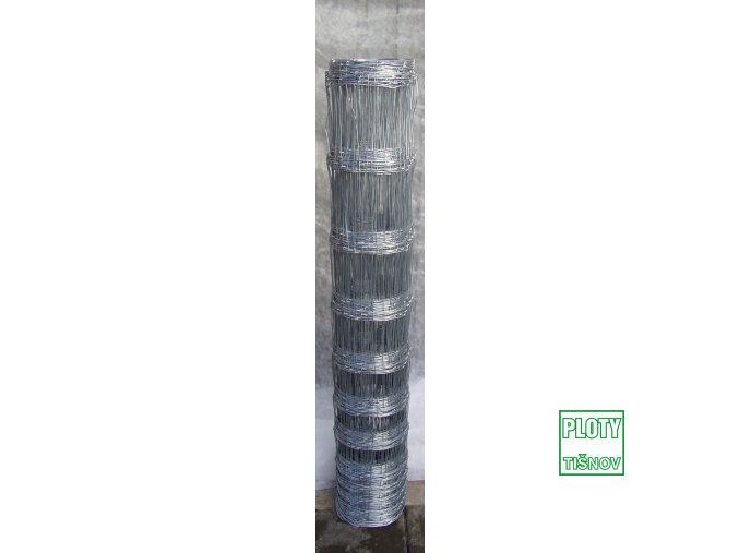 Uzlové  lesnické  pletivo  výšky  150 cm,  drát 1,6/2,2 mm, 12 drátů