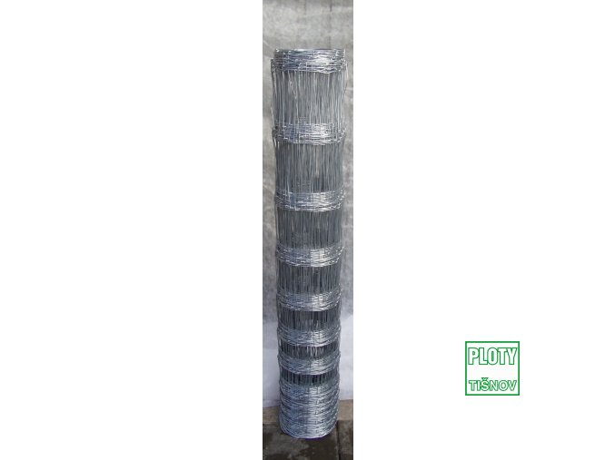 Lesnické  uzlové  pletivo  výšky  125 cm.