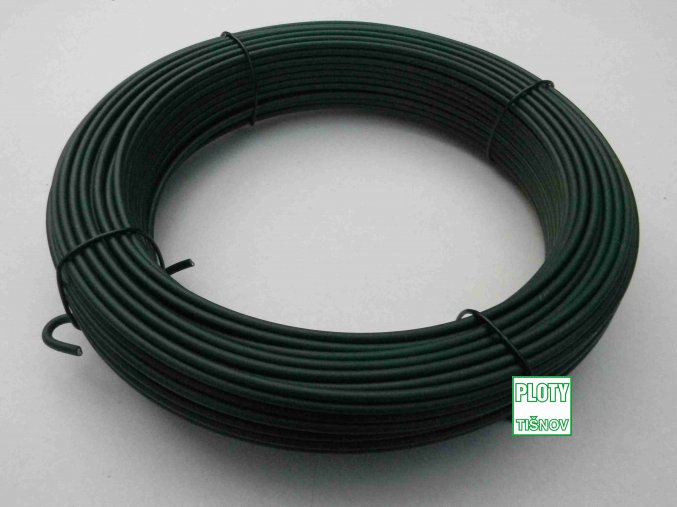 Napínací  drát  poplastovaný 2,9/3,9 mm pro  napnutí  pletiva .