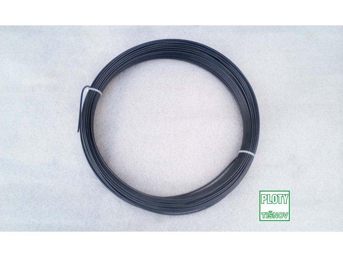 Napínací drát PVC 78 m barvy antracit