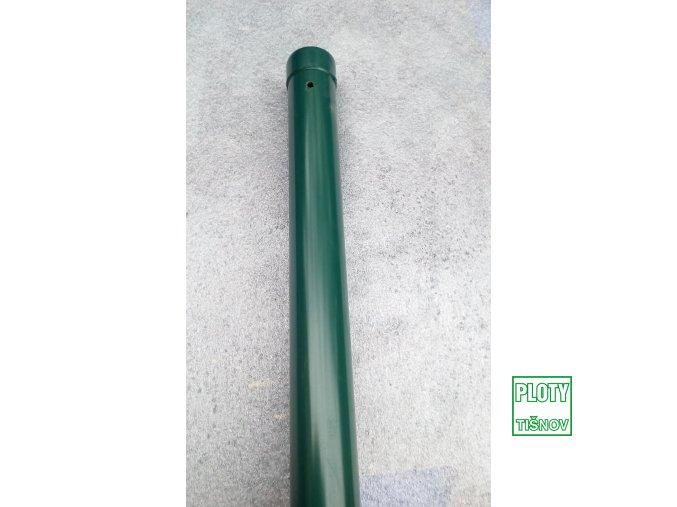 Plotový  poplastovaný  sloupek  výšky 2300 mm , s vrstvou  plastu  1 mm silnou