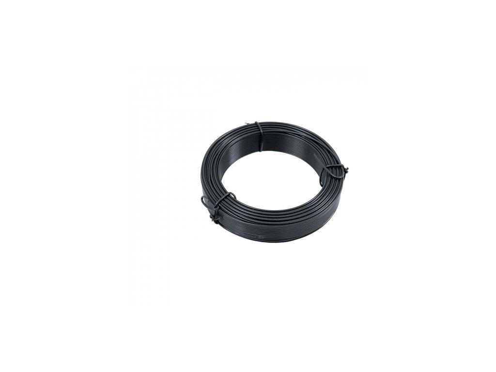 Napínací drôt poplastovaný antracit (PVC) 3,40 mm, dĺžka 52 m