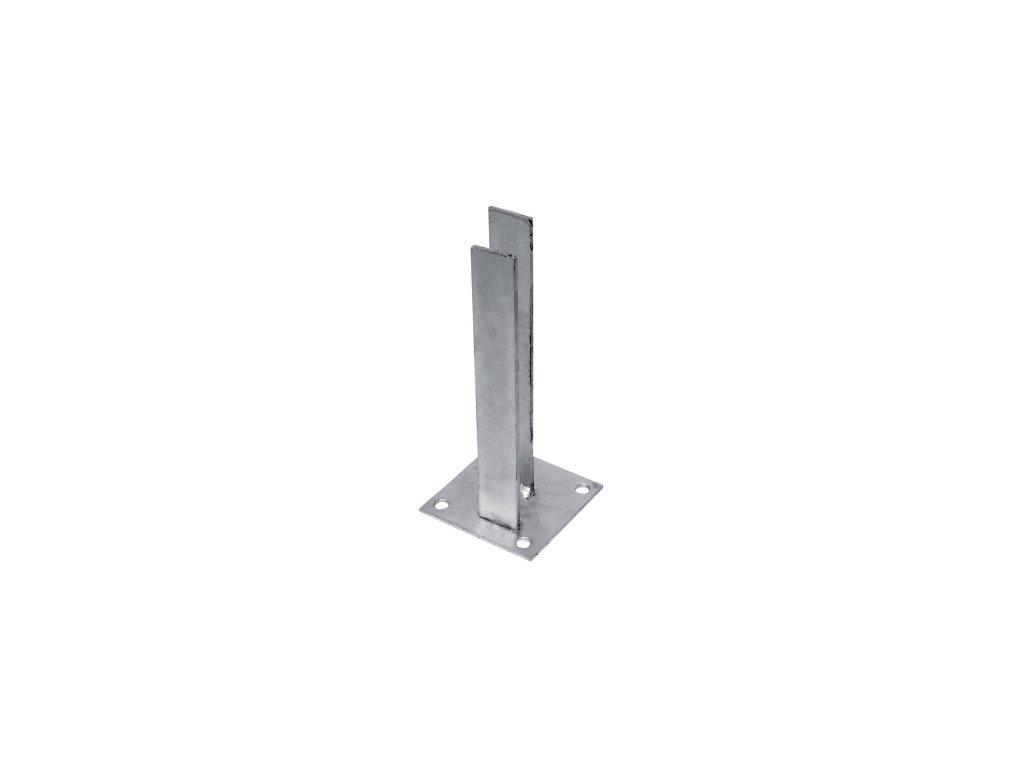 Platňa na stĺpik rozmer 60x60 mm, Zn