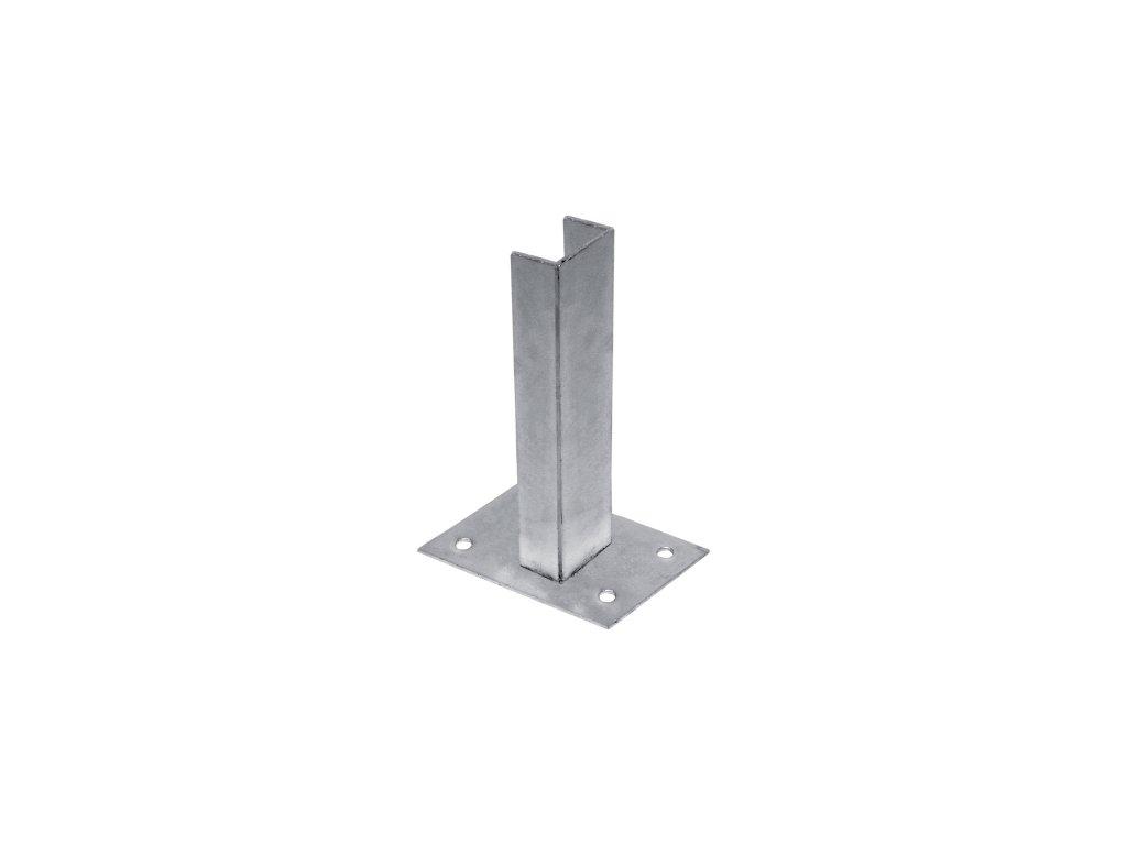 Platňa na stĺpik rozmer 60x40 mm, Zn