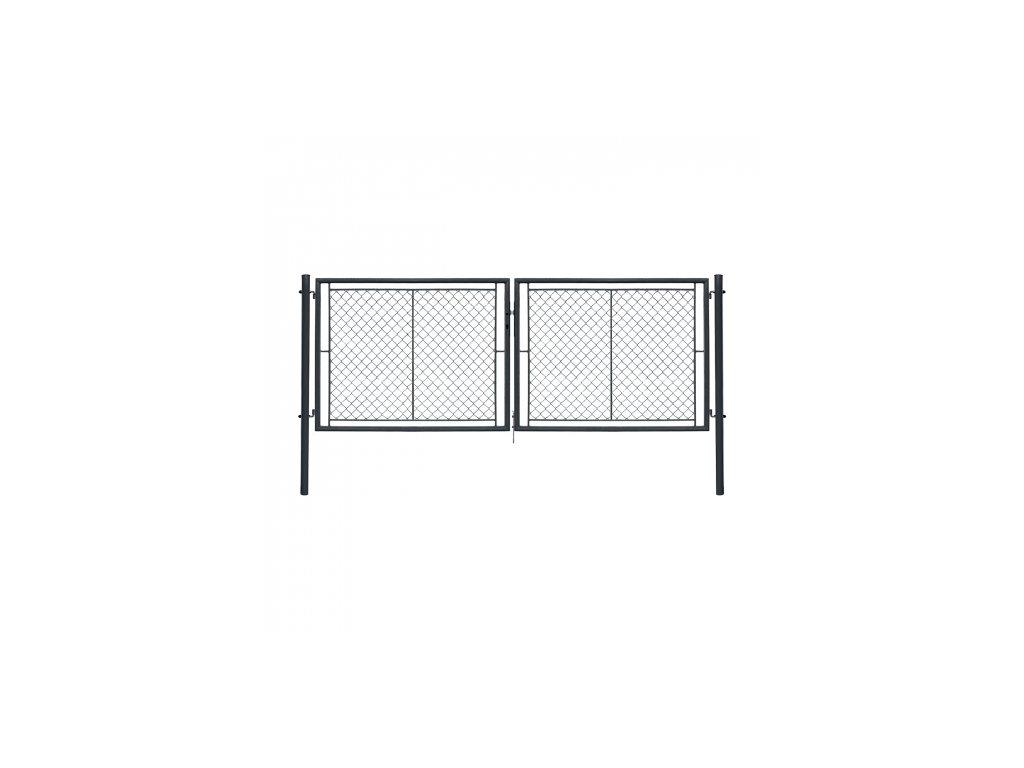 dvoukridla brana ideal ii poplastovana zn pvc rozmer 3605 1550 mm barva antracit ral 7016 8595068453223