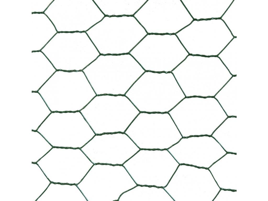 Šesťhranné pletivo zelené (PVC)