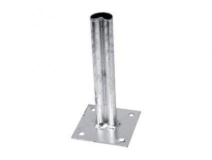 Platňa na stĺpik s prelisom, priemer 48 mm, Zn