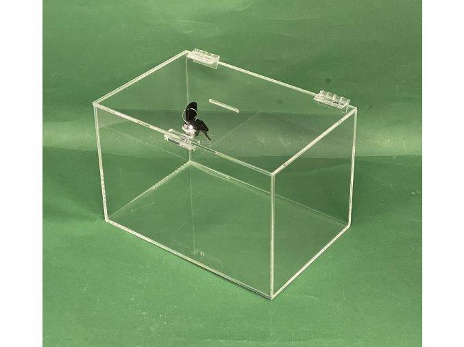 Kasička, pokladnička 300x200x200 mm na klíč