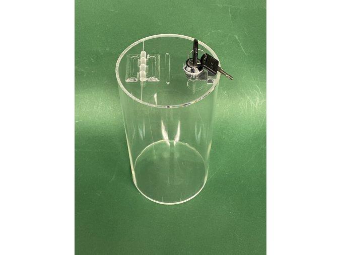 Kasička válec 120x220 mm + zámek