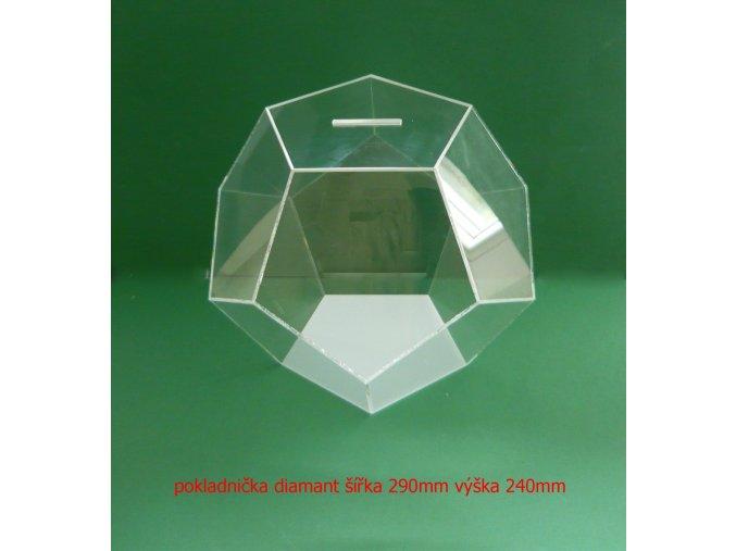 Kasička diamant 290x240 mm