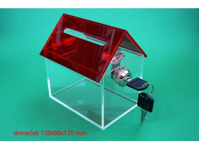 Kasička domeček 150x100x150 mm