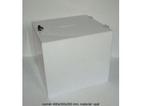 Kasička 400x350x350 mm opál