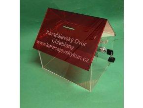 Kasička domeček 250x200x250 mm s gravírováním