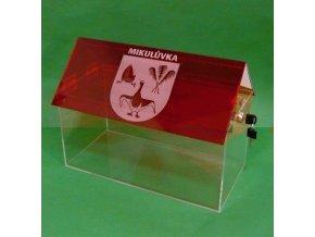 Kasička, pokladnička domeček 400x200x300 mm s gravírem 2