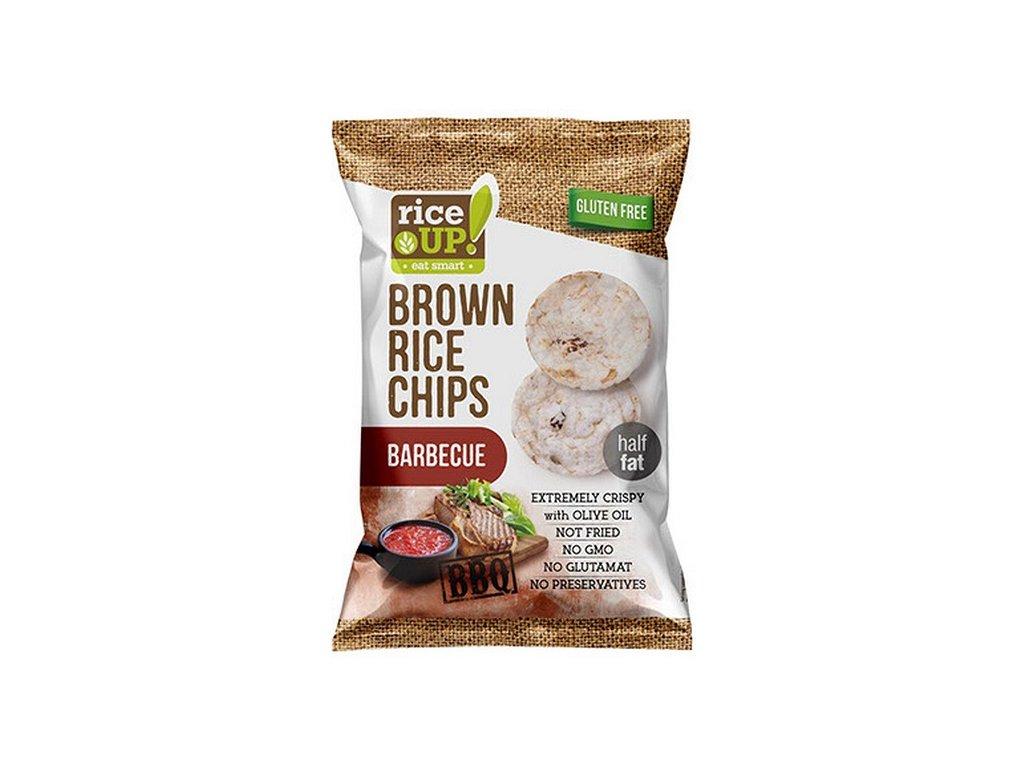 rice-up rýžové chipsy barbecue 60 g