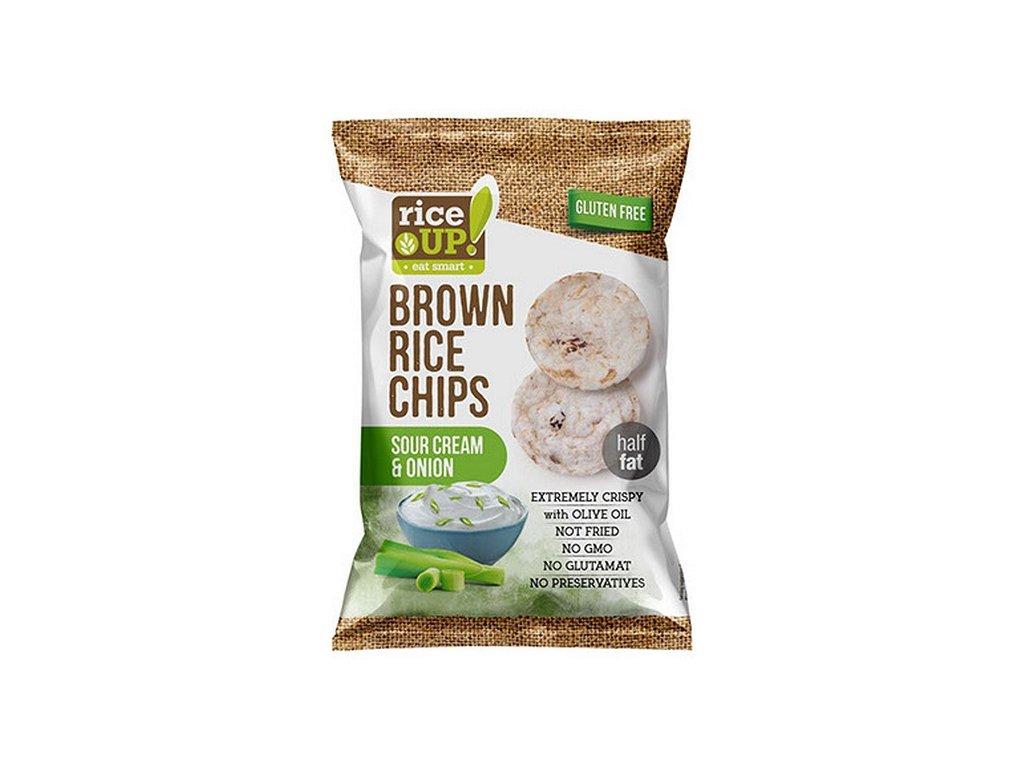 Rice-up rýžové chipsy smetana, cibule 60 g
