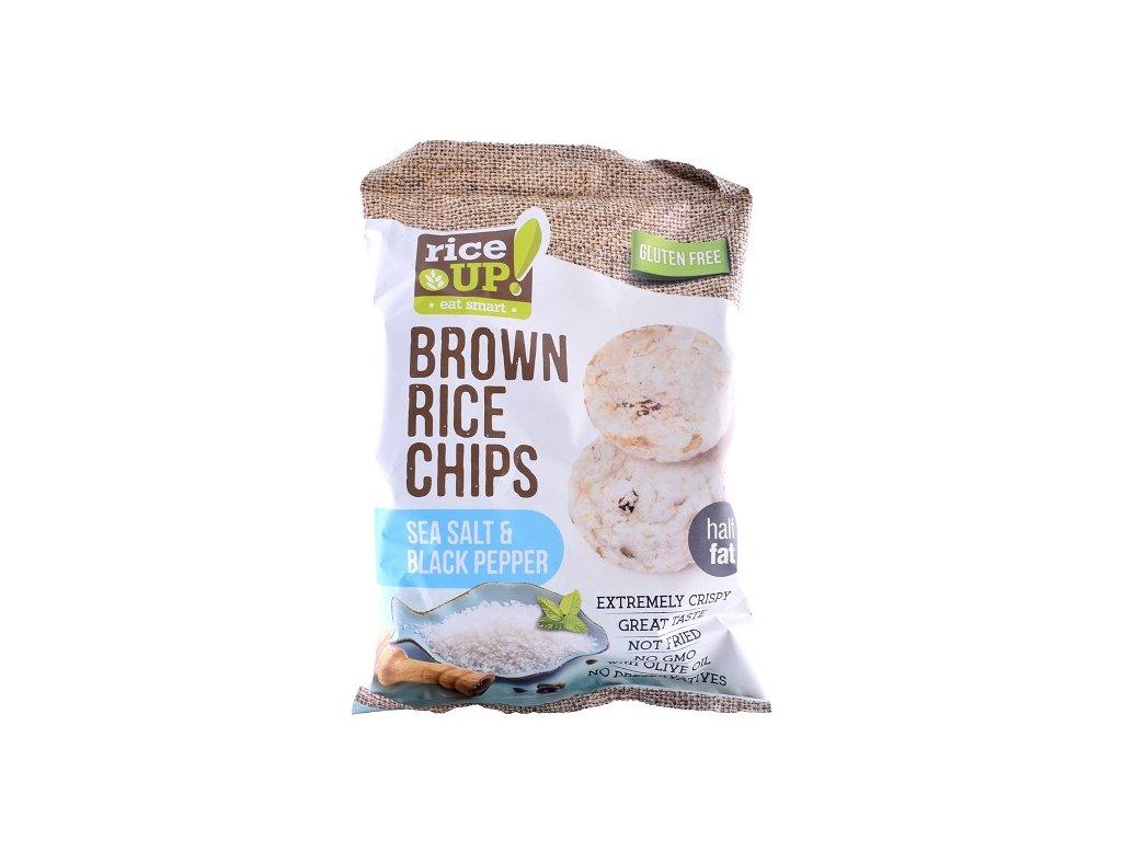 Rice-up rýžové chipsy mořská sůl, pepř 60 g