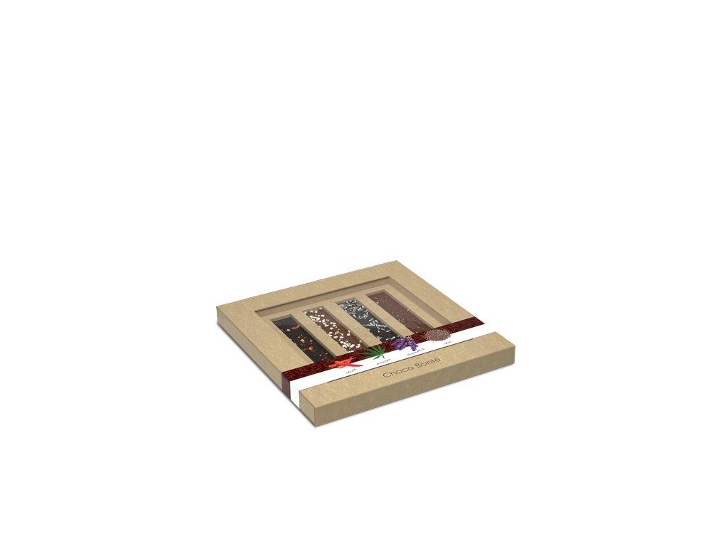 Choco Bonte mini čokolády s kořením, 4 ks