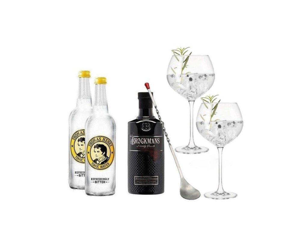 Gin Brockmans & Tonic sada na koktejl Deluxe