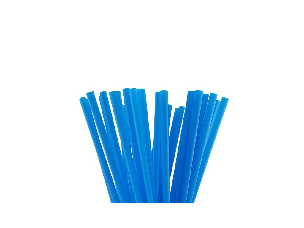 Wimex Plastová jumbo brčka modrá 25 cm, 150 ks
