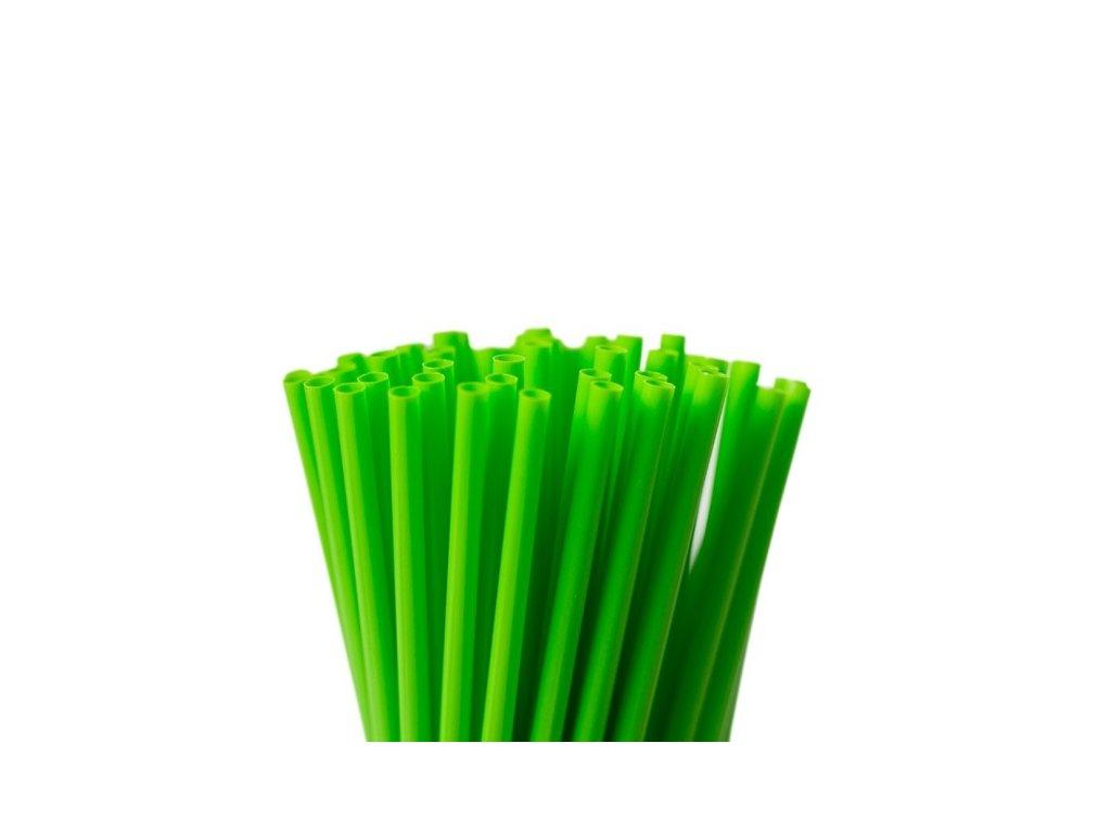 Wimex Plastová jumbo brčka zelená 25 cm, 150 ks