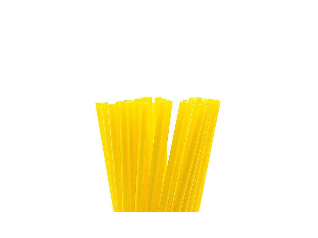 Wimex Plastová jumbo brčka žlutá 25 cm, 150 ks