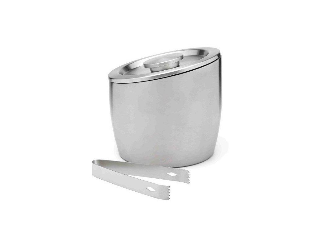 Leopold Vienna dvoustěnný kbelík na led s víkem a kleštičkami, 2,5 l