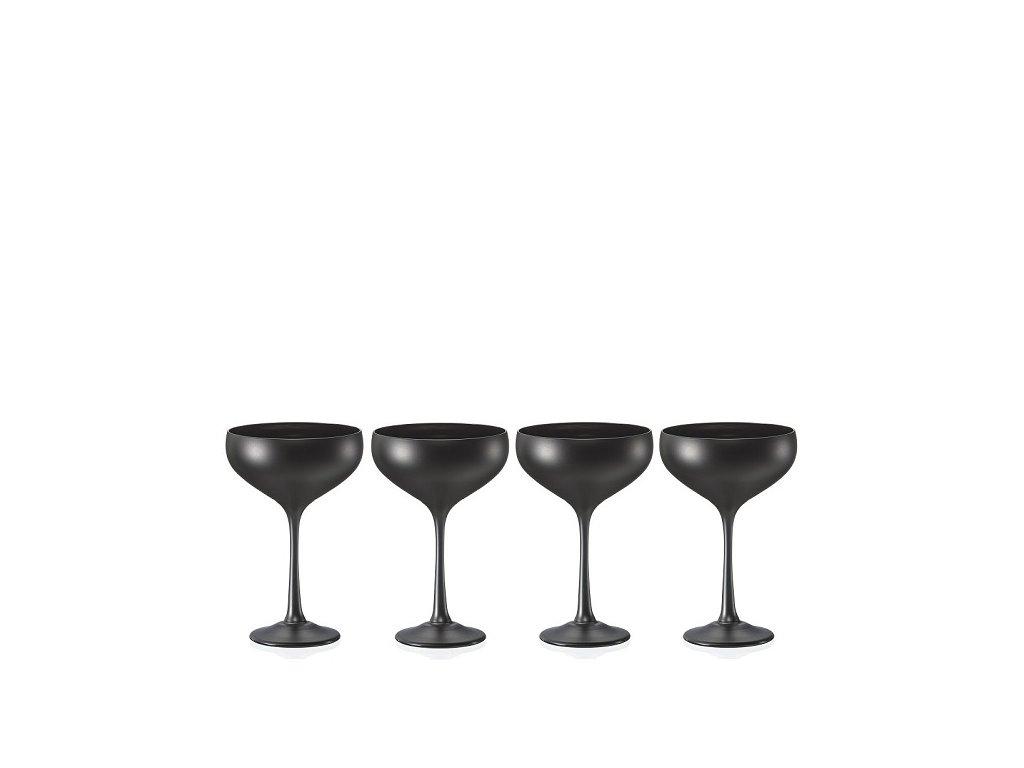 Crystalex Pralines black sklenice na koktejly 180 ml, 4 ks