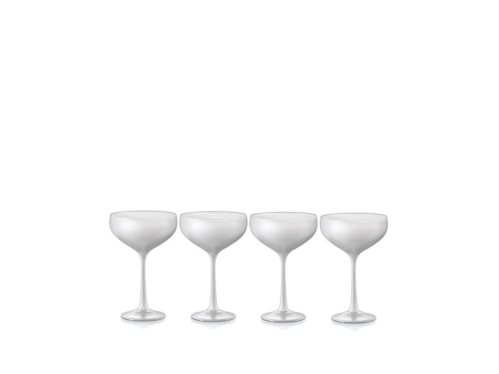 Crystalex Pralines White sklenice na koktejly 180 ml, 4 ks