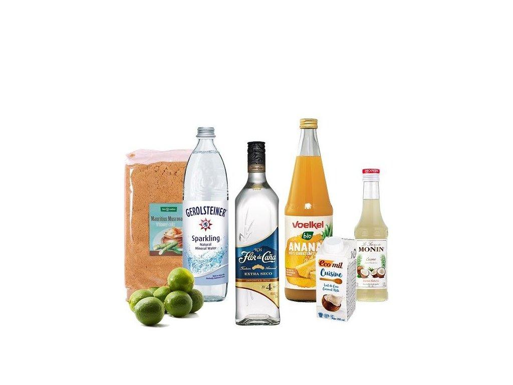 Kokotejl box bílý rum