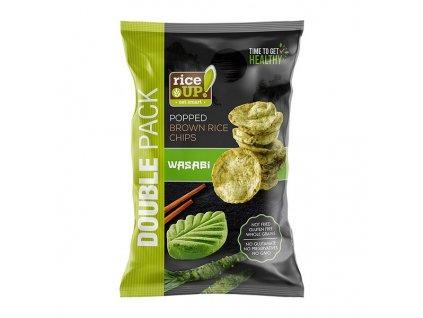 Rice-up rýžové chipsy wasabi 120 g