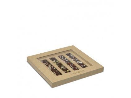 Choco Bonte mini čokolády s ořechy, 4 ks