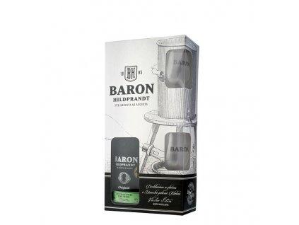 Baron Hildprandt ze zralých hrušek + sklenice