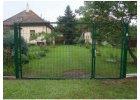 Dvojkrídlová bránka zelená