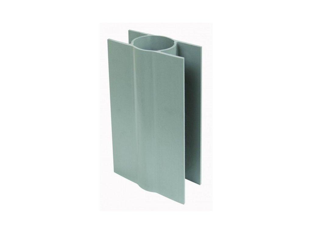 PVC DRŽIAK PODHRABOVEJ DOSKY 20 cm - SIVÝ, PRE STĹPIKY 48 a 50 mm