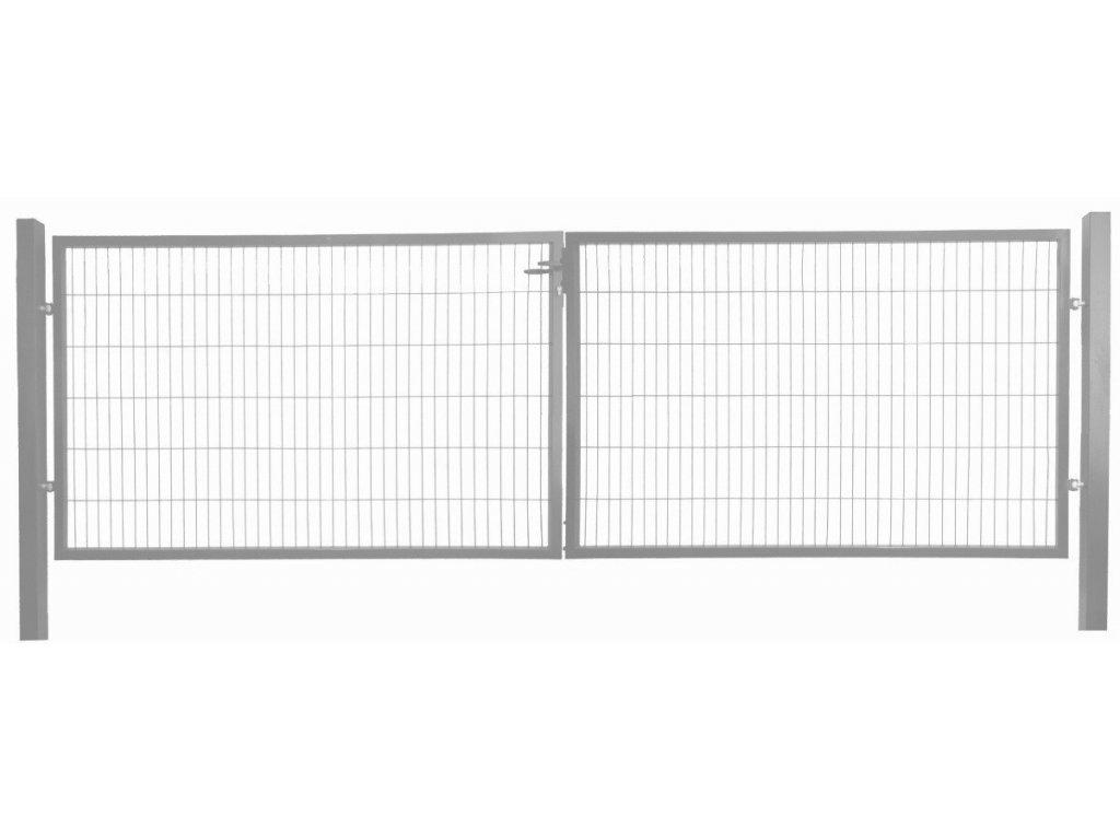 DVOJKRÍDLOVÁ BRÁNA OPTIM - ANTRACITOVÁ, 1500 x 3600 mm