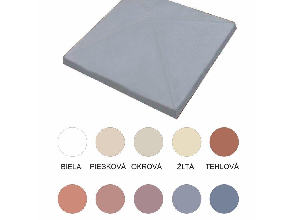 BETÓNOVÁ STRIEŠKA STĹPIKOVÁ 60 x 60 x 7.9 cm - ŠTVORCOVÁ, ŠIKMÁ, FAREBNÁ