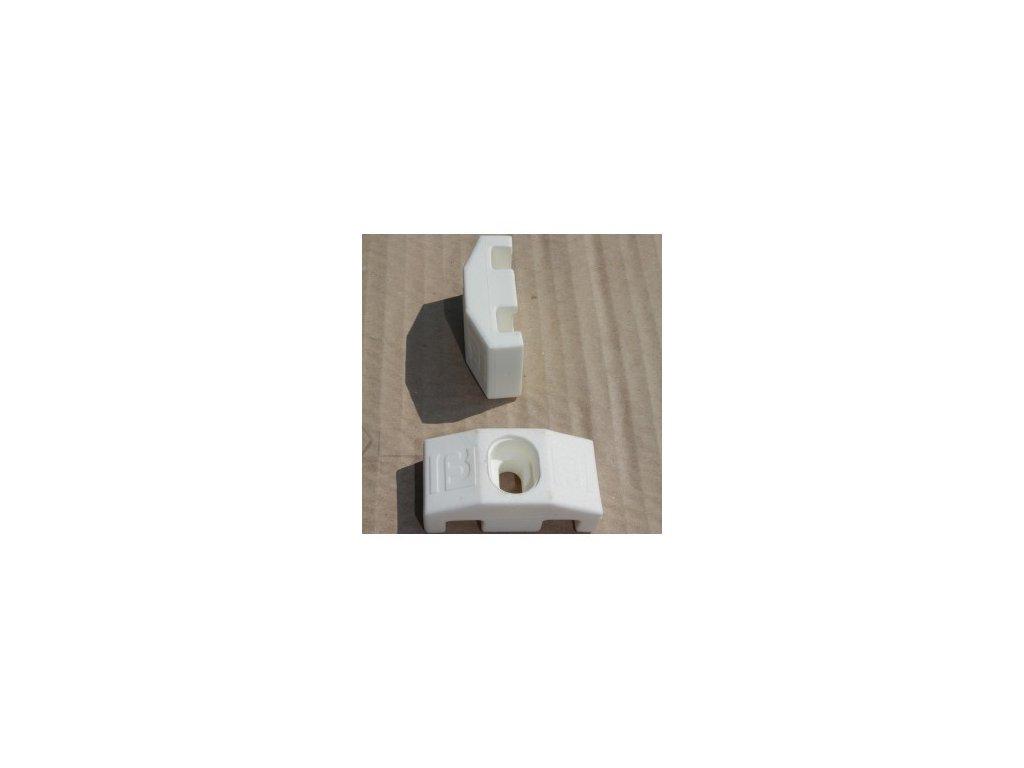 ÚCHYTY PRE PANELY NYLOFOR® 2D / 3D / 3 - M - POLYAMID - BIELE (50 ks / bal.)
